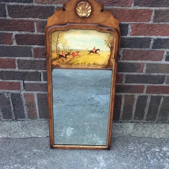 Beautiful Painted Wood Vintage Mirror
